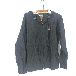 Eastern Mountain Sports Black Hooded Rain Coat M